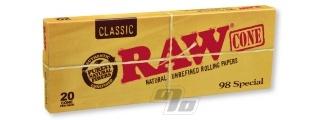 RAW Classic 98 Special Cones 20Pk Box/12