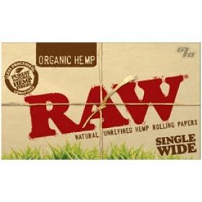 RAW Organic Single Rolling Papers Box/25