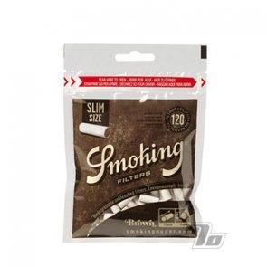Smoking Brown Slim Bio Cigarette Filters